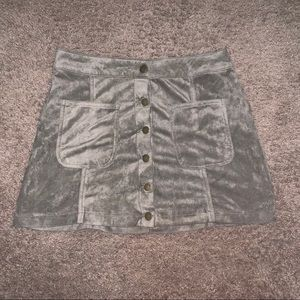 Altard State Green Suede skirt small
